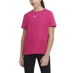 Nike Essential Sportswear Camiseta Niña - Fireberry