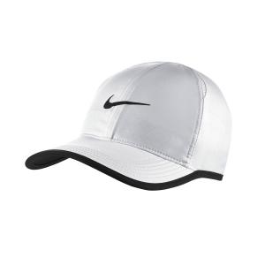 Tennis Hats and Visors Nike Aerobill Featherlight Cap  White/Black 679421100