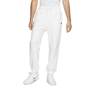 Men's Tennis Pants and Tights Nike Fleece Heritage Pants  White CK2178100