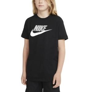 Polo y Camisetas de Tenis Nike Futura Icon Camiseta Nino  Black/Light Smoke Grey AR5252013