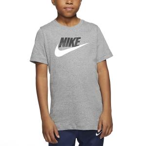 Polo y Camisetas de Tenis Nike Futura Icon Camiseta Nino  Carbon Heather/White AR5252091
