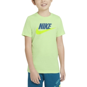 Polo y Camisetas de Tenis Nike Futura Icon Camiseta Nino  Light Liquid Lime/Deep Ocean AR5252383