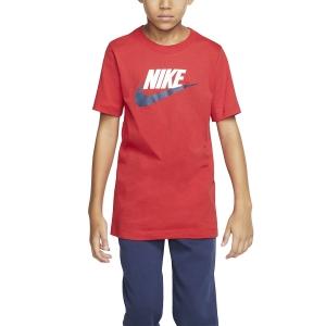 Polo y Camisetas de Tenis Nike Futura Icon Camiseta Nino  University Red/White/Midnight Navy AR5252659