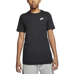 Tennis Polo and Shirts Nike Futura TShirt Boy  Black/White AR5254010