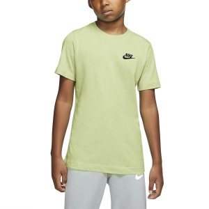 Polo e Maglie Tennis Nike Futura Maglietta Bambino  Light Liquid Lime/Black AR5254355