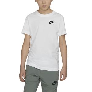 Tennis Polo and Shirts Nike Futura TShirt Boy  White/Black AR5254100