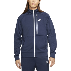 Men's Tennis Jackets Nike Heritage Essential N98 Jacket  Midnight Navy/White DA0003410