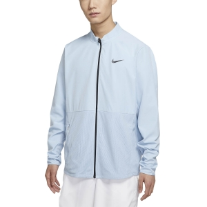 Men's Tennis Jackets Nike Hyperadapt Advantage Jacket  Light Armory Blue/Black CV2798440