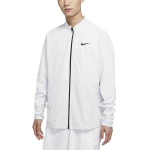 Men's Tennis Jackets Nike Hyperadapt Advantage Jacket  White/Black CV2798100