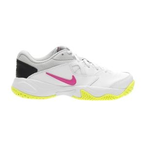 Women`s Tennis Shoes Nike Court Lite 2 HC  White/Laser Fuchsia/Hot Lime/Grey Fog AR8838107