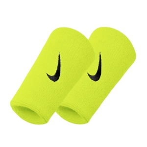 Tennis Wristbands Nike Premier DoubleWide Wristbands  Volt/Black N.000.2466.713.OS