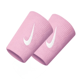 Tennis Wristbands Nike Premier DoubleWide Wristbands  Beyond Pink/White N.000.2466.685.OS