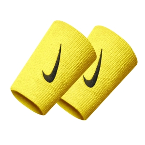 Tennis Wristbands Nike Premier DoubleWide Wristbands  Speed Yellow/Black N.000.2466.735.OS