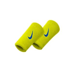 Muñequeras Tenis Nike Premier DoubleWide Munequeras  Yellow/Blue N.NN.51.725.OS