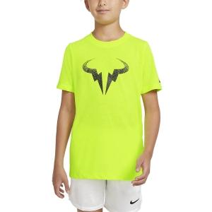 Polo y Camisetas de Tenis Nike Rafa Bull Camiseta Nino  Volt/Black CW1521702