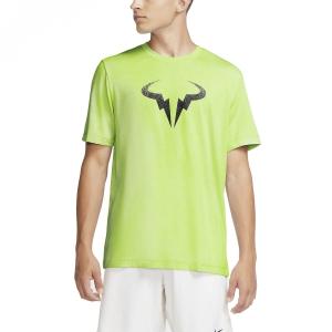 Men's Tennis Shirts Nike Rafa Bull TShirt  Volt/Black CW1534702