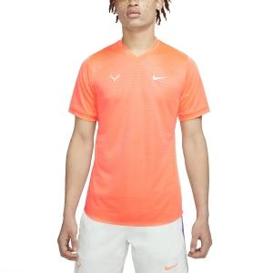 Maglietta Tennis Uomo Nike Rafa Challenger Maglietta  Bright Mango/Barley Green CI9148854