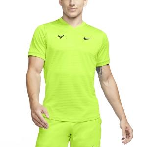 Men's Tennis Shirts Nike Rafa Challenger TShirt  Volt/Black CI9148702