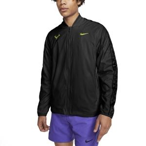 Men's Tennis Jackets Nike Rafa Court Jacket  Black/Volt CI9135010