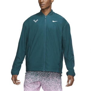 Men's Tennis Jackets Nike Rafa Court Jacket  Dark Atomic Teal/White CI9135300