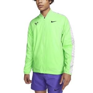 Men's Tennis Jackets Nike Rafa Court Jacket  Green Strike/Black CI9135398