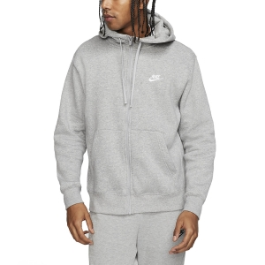 Maglie e Felpe Tennis Uomo Nike Sportswear Club Felpa  Dark Grey Heather/Matte Silver/White BV2645063