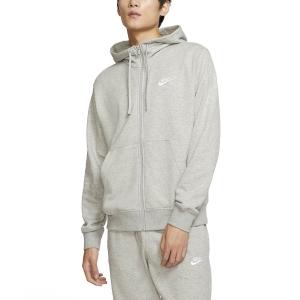 Maglie e Felpe Tennis Uomo Nike Sportswear Club Felpa  Dark Grey Heather/Matte Silver/White BV2648063