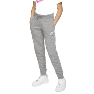 Pants da Tennis Girl Nike Sportswear Fleece Pantaloni Bambina  Carbon Heather/White BV2720091