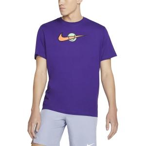 Camisetas de Tenis Hombre Nike Swoosh Camiseta  Court Purple DC5249547