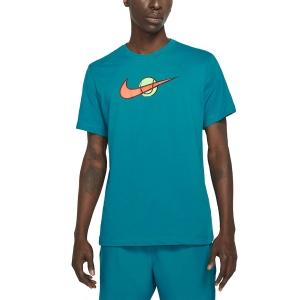 Maglietta Tennis Uomo Nike Swoosh Maglietta  Green Abyss DC5249301