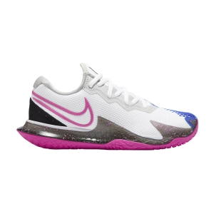 Scarpe Tennis Donna Nike Air Zoom Vapor Cage 4 HC  White/Laser Fuchsia/Sapphire/Hot Lime CD0431101