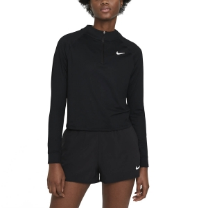 Maglie e Felpe Tennis Donna Nike Victory DriFIT Maglia  Black/White CV4697010