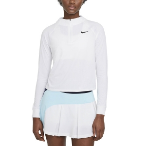 Maglie e Felpe Tennis Donna Nike Victory DriFIT Maglia  White/Black CV4697100