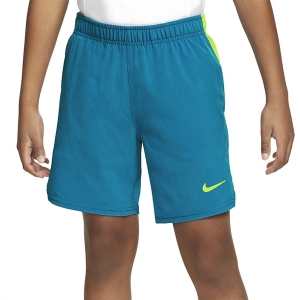 Pantalones Cortos  y Pantalones Boy Nike Victory Flex Ace 6in Shorts Nino  Neo Turquoise/Volt CI9409425