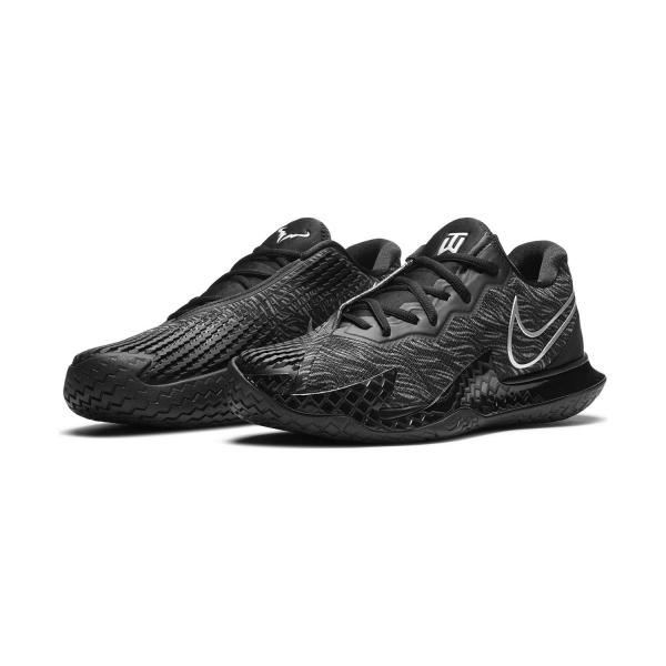 Nike Air Zoom Vapor Cage 4 Rafa X Tiger HC - Black/Metallic Silver/University Red