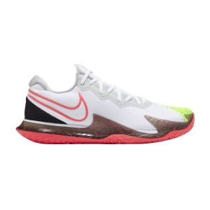 Calzado Tenis Hombre Nike Air Zoom Vapor Cage 4 HC  White/Solar Red/Hot Lime/Neo Turquoise CD0424104