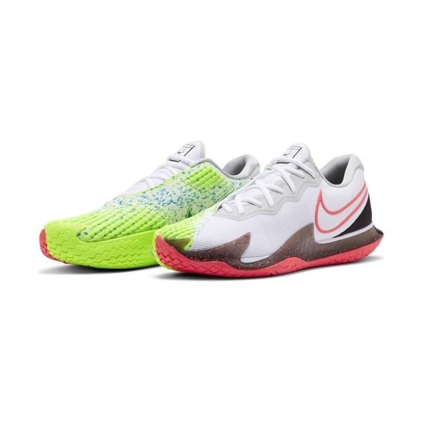 Nike Air Zoom Vapor Cage 4 HC - White/Solar Red/Hot Lime/Neo Turquoise