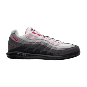 Scarpe Tennis Uomo Nike Zoom Vapor X AM 95  White/Solar Red/Neutral Grey/Medium Grey DB6064100
