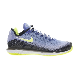 Calzado Tenis Mujer Nike Air Zoom Vapor X Knit HC  Sapphire/Hot Lime/Black/Light Thistle AR8835500