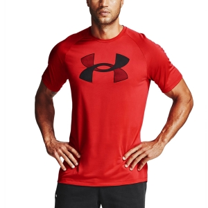 Camisetas de Tenis Hombre Under Armour Big Logo Camiseta  Versa Red/Black 13572340608