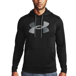 Men's Tennis Shirts and Hoodies Under Armour Big Logo Print Hoodie  Black/Pitch Gray 13570850001
