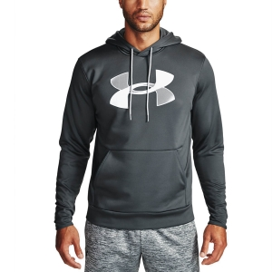 Men's Tennis Shirts and Hoodies Under Armour Big Logo Print Hoodie  Pitch Gray/Halo Gray 13570850012