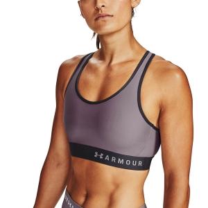 Tennis Women's Underwear Under Armour Mid Sports Bra  Slate Purple/Black 13071960585