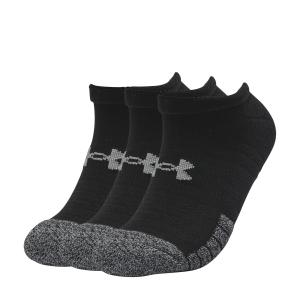 Calcetines de Tenis Under Armour HeatGear No Show x 3 Calcetines  Black/Steel 13467550001