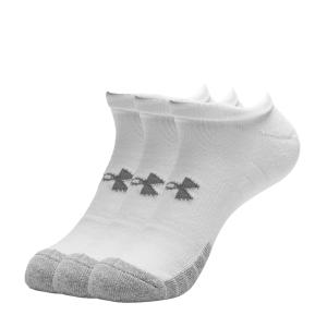 Calcetines de Tenis Under Armour HeatGear No Show x 3 Calcetines  White/Steel 13467550100