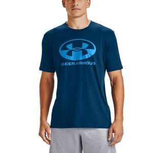 Men's Tennis Shirts Under Armour Locker Tag TShirt  Graphite Blue/Electric Blue 13571550581