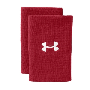 Tennis Wristbands Under Armour 6in Performance Wristband  Red/White 12180060600