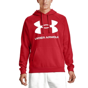 Men's Tennis Shirts and Hoodies Under Armour Rival Big Logo Hoodie  Versa Red/Onyx White 13570930608