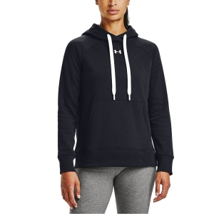 Women's Tennis Shirts and Hoodies Under Armour Rival Classic Hoodie  Black/White 13563170001