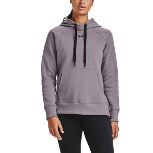 Women's Tennis Shirts and Hoodies Under Armour Rival Classic Hoodie  Slate Purple/Black 13563170585
